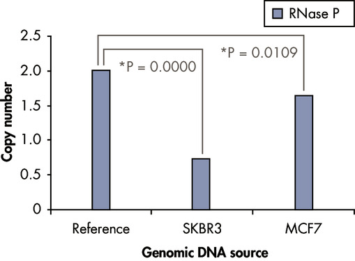 RNase P and other single-copy genes are not suitable normalizers for sample input.