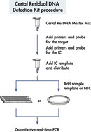 Certal Residual DNA Detection Kit procedure.