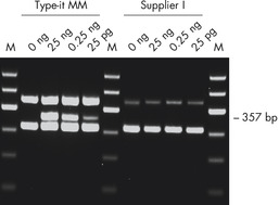 Sensitive detection of a mutated cancer-related gene.