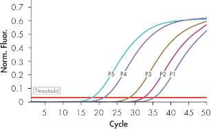 Accurate detection of Wilm's tumor plasmid standards.