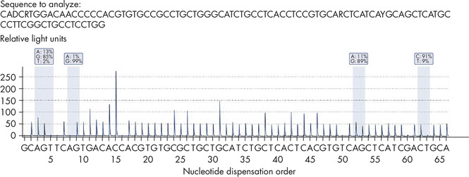 Quantitative mutation analysis in long sequence runs.