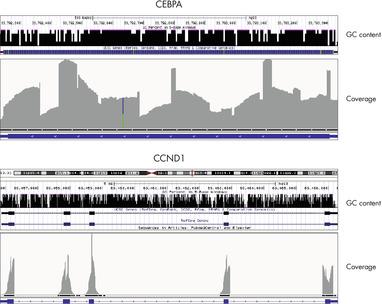 Coverage of GC-rich genomic regions