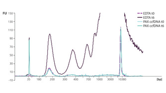 PAXgene Blood ccfDNA稳定剂有助于防止gDNA释放到血浆中。