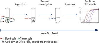 Figure 3: AdnaTest ProstateCancerPanel AR-V7: qRT-PCR of AR-V7 and various prostate cancer associated tumor markers.