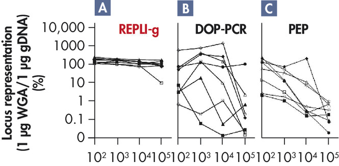 <p>Highly representative amplification using REPLI-g technology.</p>
