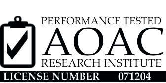 AOAC-certified