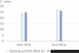 High recovery of ccfDNA and RNA compared to the QIAamp Circulating Nucleic Acid Kit.
