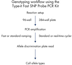 Genotyping workflow.