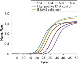 Reliable detection of ABL plasmid standards, high positive RNA control, and IS-MMR calibrator.