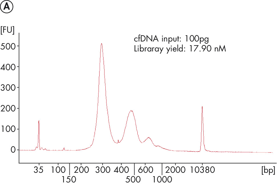 The QIAseq Ultralow Input Library Kit generates appropriate-quality libraries from samples of circulating cfDNA and FFPE DNA