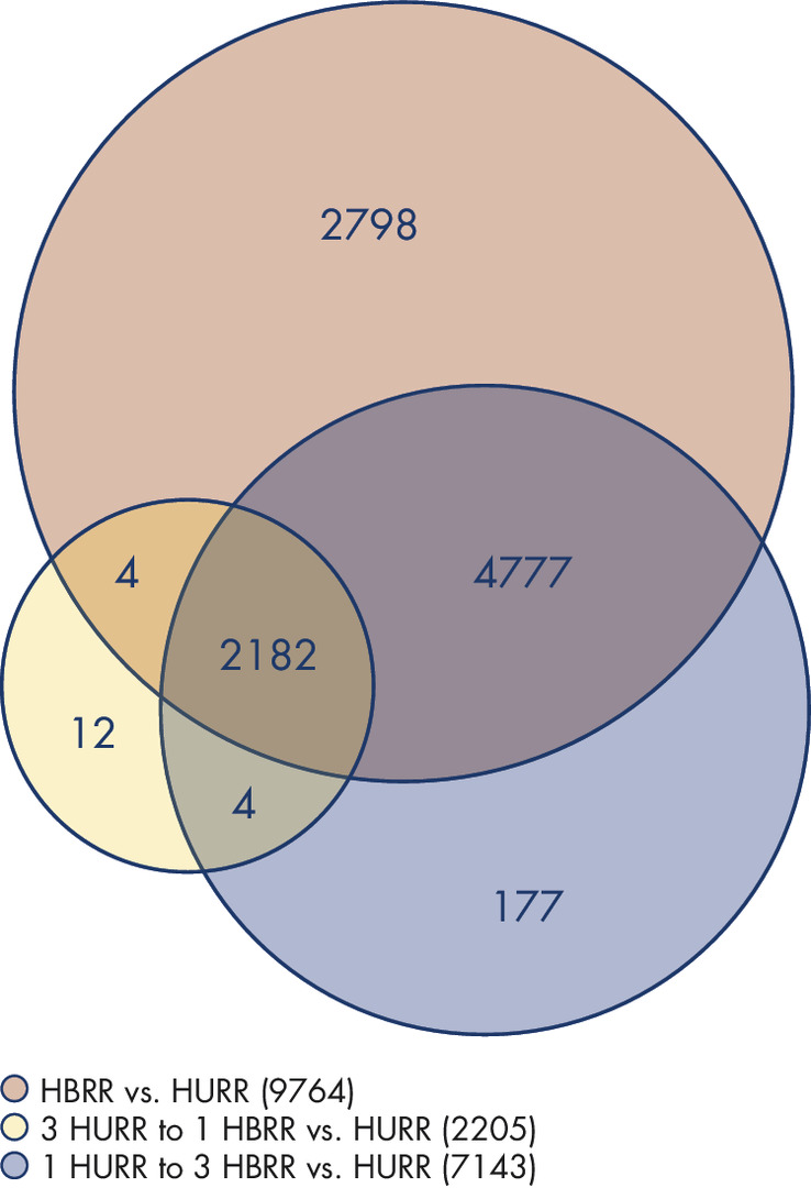 QIAseq FastSelect performance with sequencing quality control (SEQC) samples (Venn diagram).