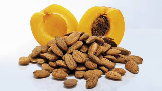 Almonds and apricots